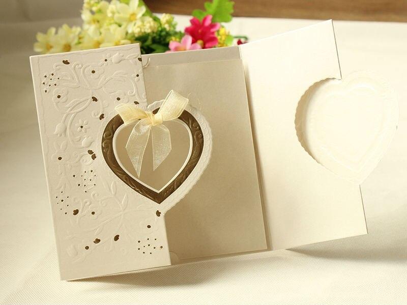 nueva llegada unids amor brillante del corazn del corte del laser de boda tarjetas de invitacin de boda de lujo de boda centros de mesa