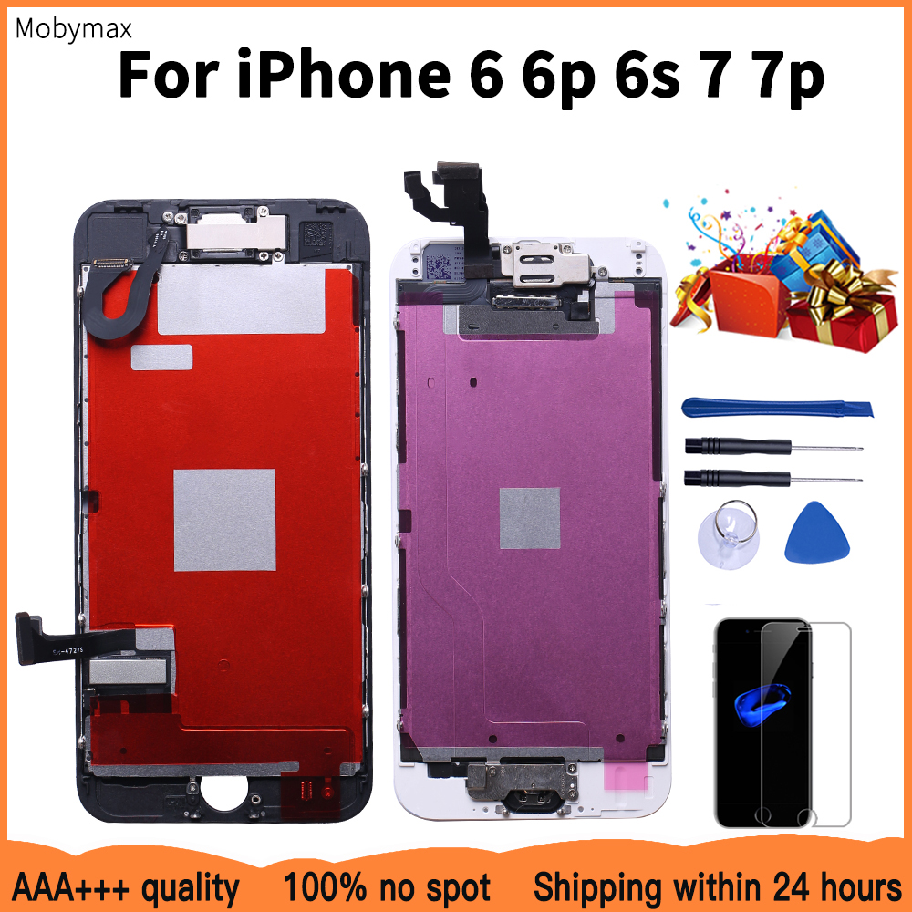 Complete LCD Or Full Set LCD For iPhone 6 6s 6 plus Or For iPhone 7 7 Plus Screen Display Replacement With Free Ship+Tool Kit image