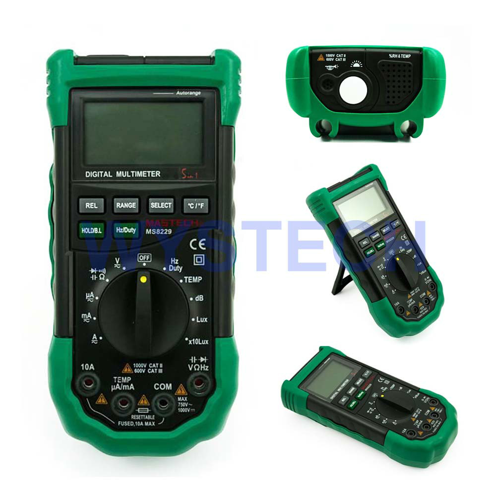 ФОТО M042 MASTECH MS8229 5in1 Auto range Digital Multimeter DMM LUXMETER Thermometer Sound Level Tester Humidity Meter FREE SHIPPING