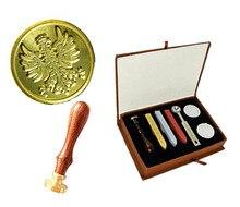 Custom Picture Logo Vintage Phoenix Wedding Invitation Wax Seal Sealing Stamp Sticks Spoon Gift Box Set Kit