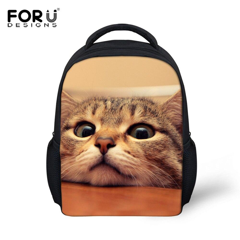 Cute Pet Cat Printed School Bags for Girls Small Animal Backpack,Kindergarten Baby Kids Schoolbag Mochila Infantil Child Bookbag