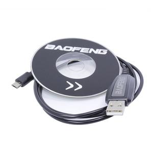 Image 1 - Baofeng BF T1 usb cabo de programação driver cd win 10 para baofeng BF T1 mini walkie talkie BF 9100 rádio móvel em dois sentidos