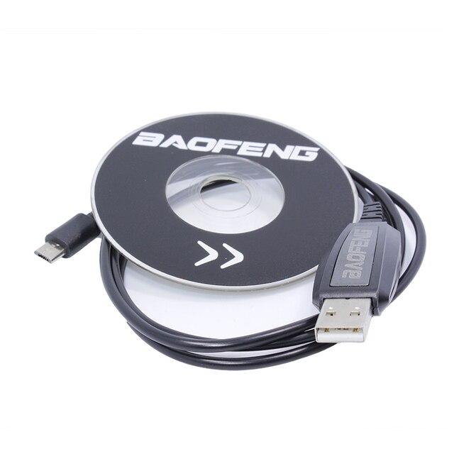 Baofeng BF T1 usb cabo de programação driver cd win 10 para baofeng BF T1 mini walkie talkie BF 9100 rádio móvel em dois sentidos