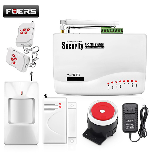 GSM10A Wireless GSM Alarm System Wireless home Security Alarm System Sensor Alarme Systems Security Dual Antenna Alarma Suits