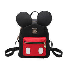 Casual Lady backpack PU Nylon Cloth Stitching Full Waterproof Small Backpack Cute Travel Chao Meng Girls Backack