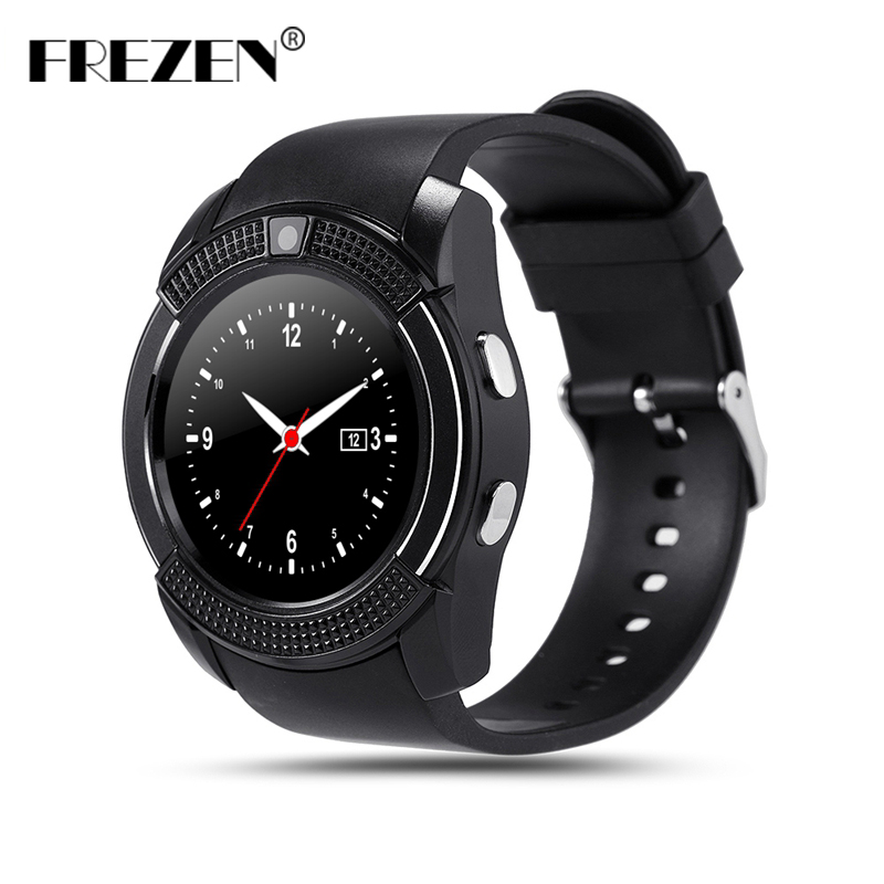 FREZEN V8 Smart Watch Bluetooth Round Screen IPS Sport Watches Sim TF Card Smartwatch For Android Phone PK GT08 GV18 U8 DZ09 A1 hot sale smart watch charming l6 sim card ips round screen stainless steel bluetooth smartwatch push or ios android phone high