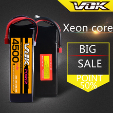 VOK 22.2V 4500mAh 35C Lipo Helicopter Battery 6S for RC Control Rechargeable Li-poly Batteries Deans Plug Rechargeable