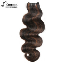 Joedir Hair Brazilian Remy Human Hair Weave Body Wave Piano Color P1B30 and Ombre Color T1B/Burg Red Hair Extensions Free Ship