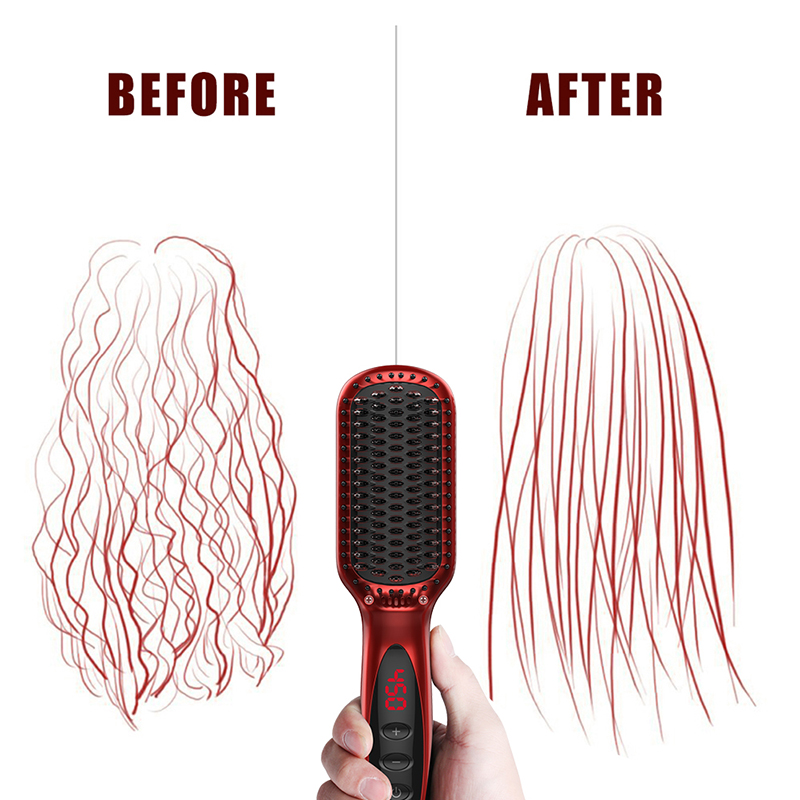 High Quality Hair Extension Tools Hair Straightening Comb Electric Hair Straighteners Brush Electric Hairbrush