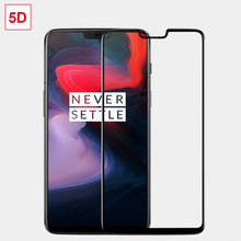 Cristal 100% RIJOW 5D Original para OnePlus 6 6T, cristal templado One Plus 6 5T, Protector de pantalla curvada 3D, OnePlus6 7 7T