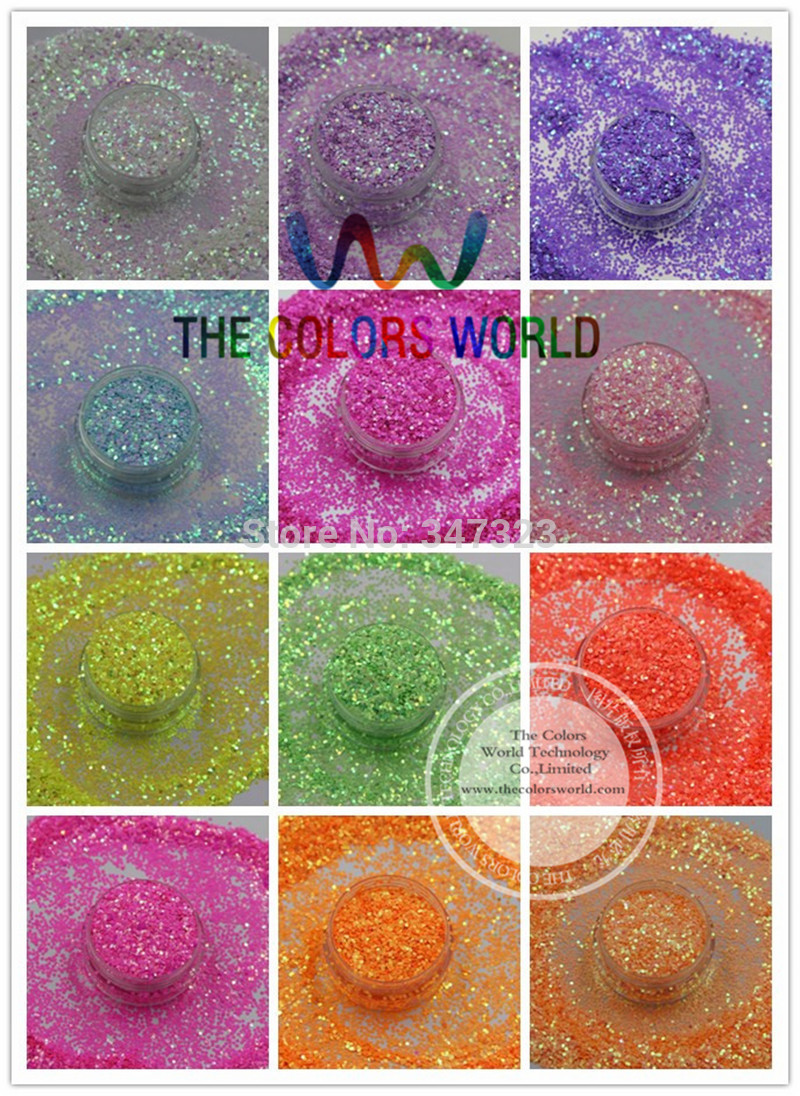 TCT-097 1MM Iridescent Pearlescent colors Glitter bright decoration for Nail design nail art and DIY hr25 148 mix 2 5 mm pastel matt pearlescent colors heart shape glitter for nail art and diy supplies1pack 50g