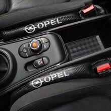1 sztuk z włókna węglowego szczelne ochronne szczeliny w siedzeniach pokrowiec na samochód Pad dla Opel Astra H G J Insignia Mokka Zafira Corsa Vectra C D Antara