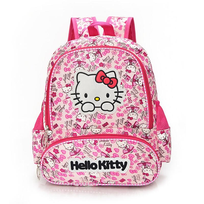 Hello Kitty Girls School Bag Child Backpack Bags School Backpacks Schoolbag Bags Lovely Children Backpack