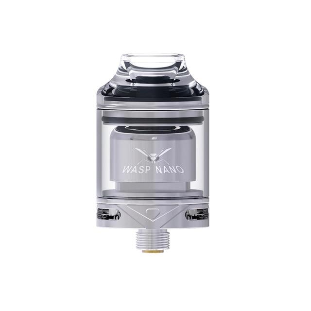 Original OUMIER WASP NANO RTA 2ml Capacity 23mm Atomizer W/ Top Refill Design & PCTG Drip Tip E-cig Vape Tank VS WASP NANO RDTA 5