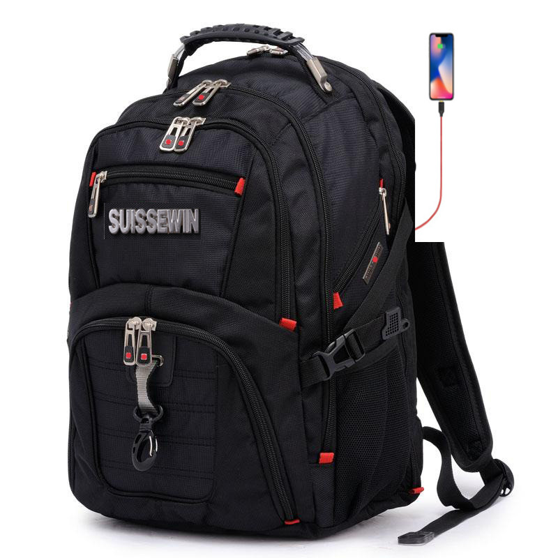 Swiss Usb Laptop Bag For 17 Inch Computer Bag Male Backpack Multifunctional Boy Backpack Male Backpack Female Bag To School