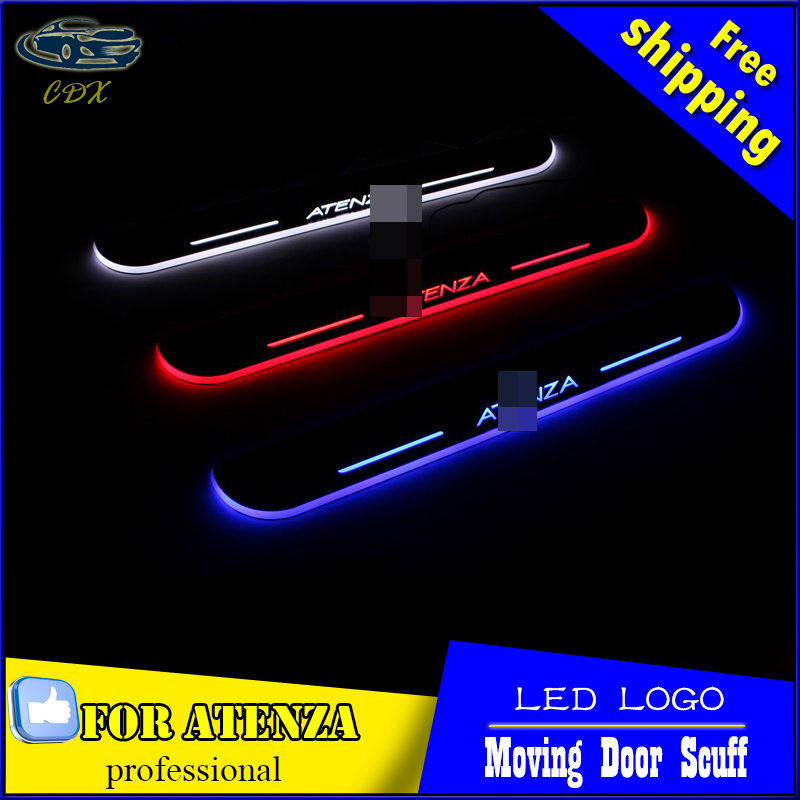 Car Styling LED Moving Door Scuff for Mazda 6 ATENZA 2014 2015 Door Sill Plate LED Welcome Pedal LED Brand Logo Drl Accessories