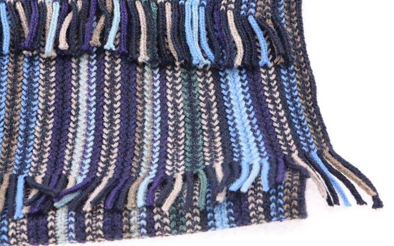 Knitting Fashion 2015 : Fashion autumn winter scarf men blue striped