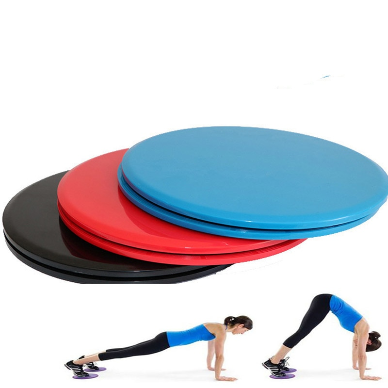1Pair Gliding Discs Slider Fitness Disc Exercise Sliding Plate For Yoga Gym Abdominal Core Training Fitness Equipment