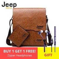 Для мужчин сумки комплект Jeep buluo известный Фирменная Новинка модная мужская кожаная сумка мужской Креста тела плеча Бизнес сумки для Для му...