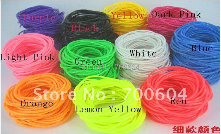 Candy Color Imitation Leather Trendy Silicon Rubber Bands Bracelet Bangle For S Inner Diameter 6 5cm 0cm In Strand Bracelets From Jewelry