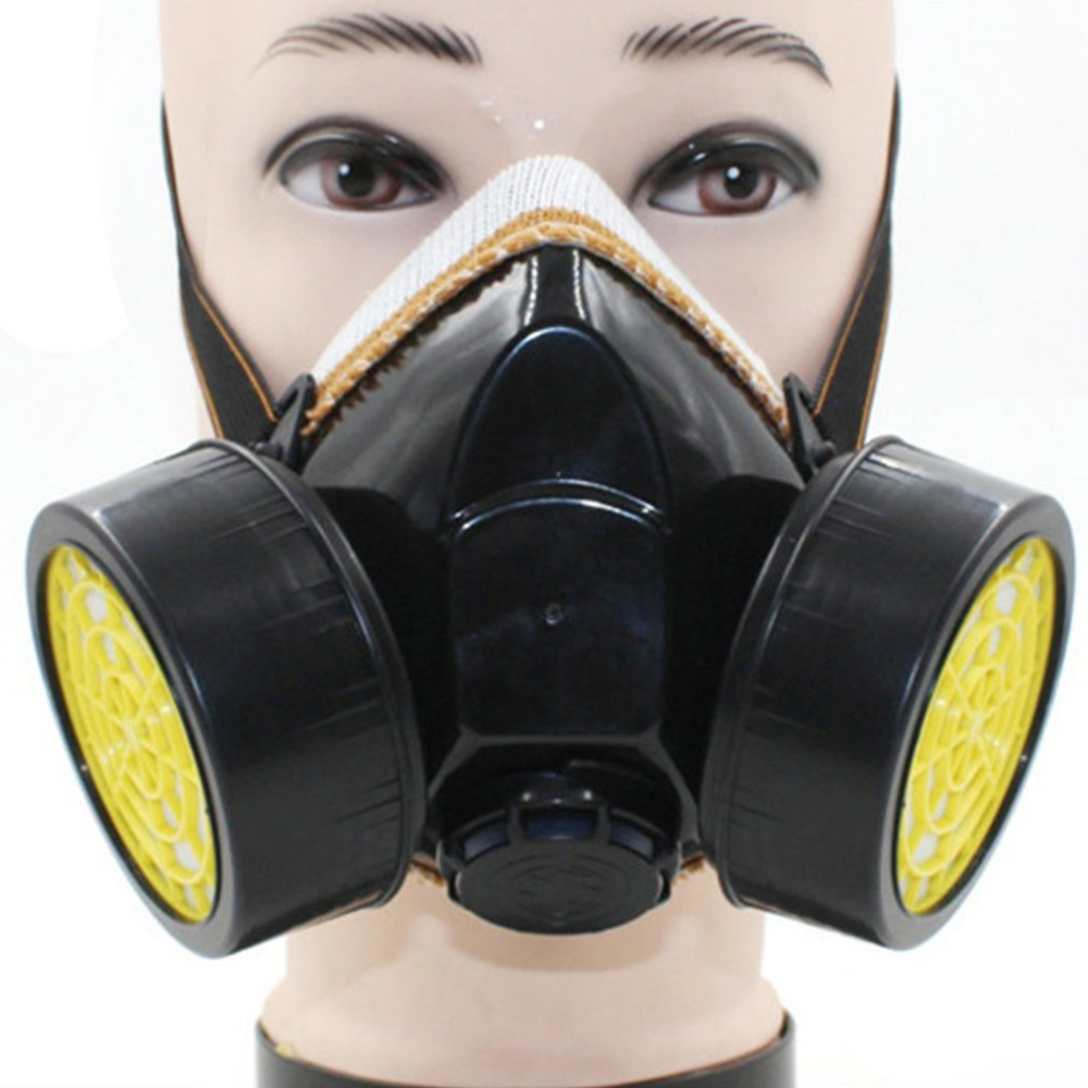1 Pair Cartridges Chemical Safety Active Carbon Box Painting Gas Filter Respirator Industrial Safety Equipment for Gas Mask