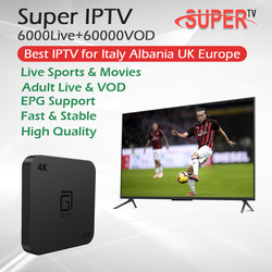 Albania wielka brytania włochy IPTV Super IPTV wsparcie dla EPG + GOTIT S905 Android TV Box procesor Amlogic S905W Quad Core 2G /16G 4K HDMI 2.0 Set Top Box|Dekodery STB|   -