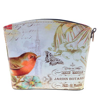 Storage Bags Bird Pattern Women Makeup Bag Basket For Small Items 90745