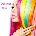 20 Дюйм(ов) 9 Цвет Расширение Синтетические Волосы Длинные Прямые Ролик В Наращивание Волос Жаропрочных Красочные Парики
