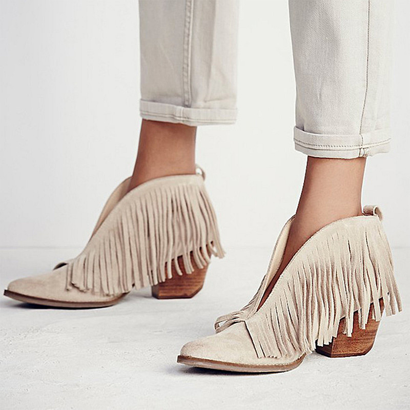 Leather Fringe Boots Womens Promotion-Shop for Promotional Leather ...