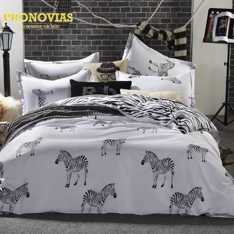 Pronovias Zebra Nordic Bedding Set King Queen Double