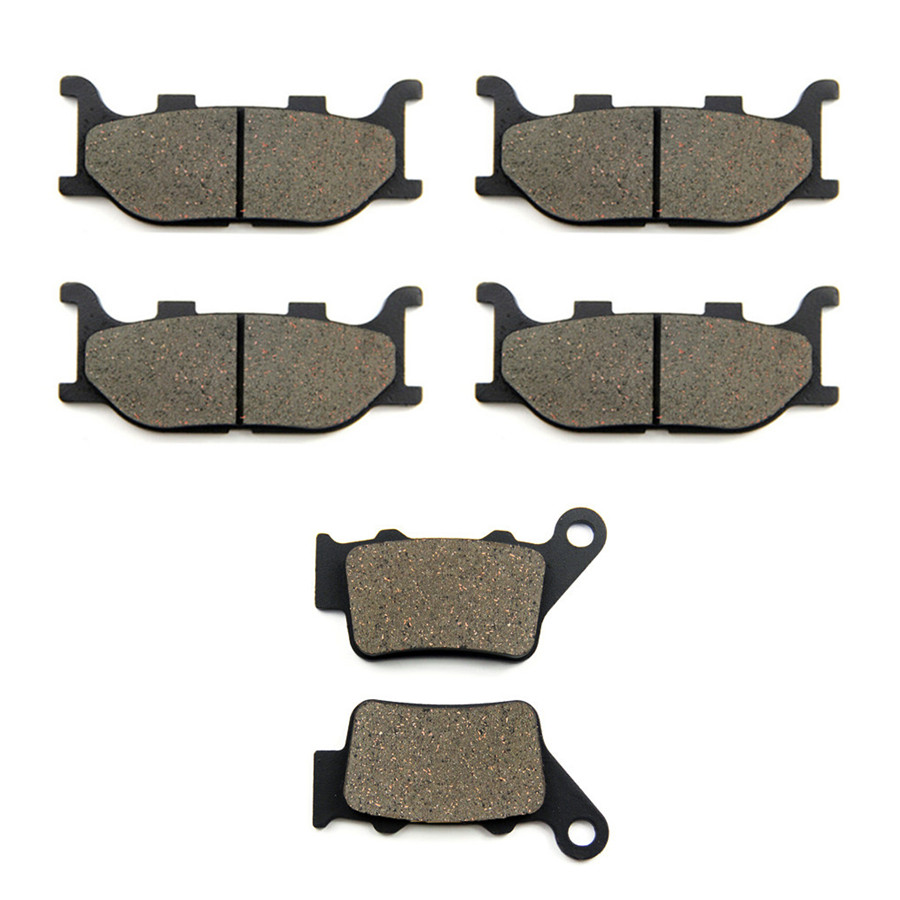 SOMMET Motorcycle Front + Rear Brake Pads Disks for Yamaha MT-03 MT03 (<font><b>660cc</b></font>) (06-12) LT199-199-208 image
