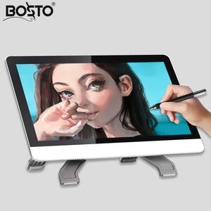 Image 3 - BOSTO 21.5in X3 Alle in einem Grafiken Tablet Monitor zu Zeichnen Volle HD Hand gemalt Maschine mit Kunst Zeichnung handschuh und Einstellen Stehen
