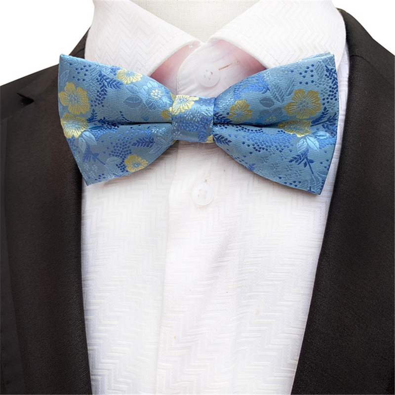 Floral Bow Tie Wedding Mens Ties For Men Accessories Corbatas Butterfly Polyester Bow Ties Gravata