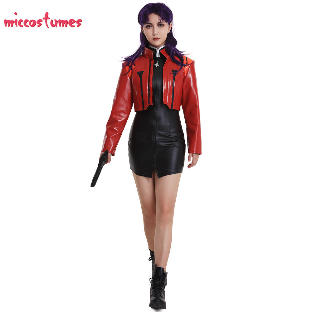 Image 3 - Captain Katsuragi Misato Zerochan Cosplay Costume Jacket Cosplay Woman Halloween Outfit