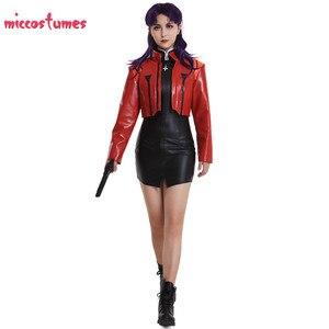 Image 3 - Kapitän Katsuragi Misato Zerochan Cosplay Kostüm Jacke Cosplay Frau Halloween Outfit