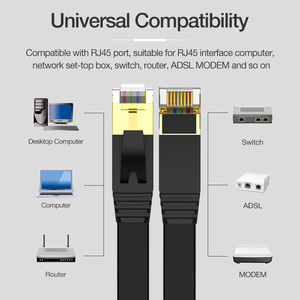 Image 5 - Cable Lan Coolreall, cable RJ45 cat 7, Cable rj 45 de red Ethernet Compatible con Cat6, Cable de parche para portátil, Cable de enrutador