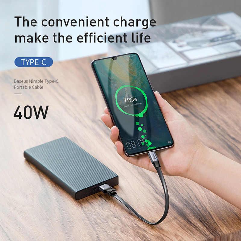Baseus USB C кабель 5A usb type C кабель для huawei P30 P20 mate 20 P10 Pro Lite быстрое зарядное устройство для Xiaomi Mi кабель type-c