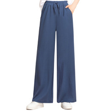 Spring Autumn Women Solid Casual Loose Wide Leg Pant Office Lady High Waist All-match Ankle-length Fashion Pants Pantalon Femme