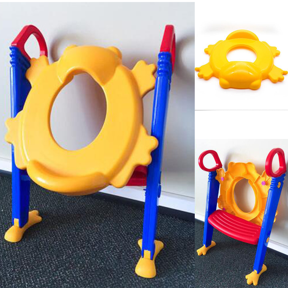 Baby Toddler Potty Trainer Ladder Foldable Non Slip Toilet Training Safety Seat kids urinal Potty Children orinales infantiles