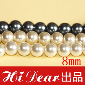 53pcs/String 24 Stings/Lot 6mm Round Glass Loose Mand-made Pearl Beads Fashion Jewelry Necklace Bracelet diy Findings For Women