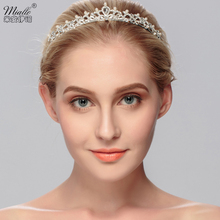 Miallo Pearl Rhinestone Tiara Crown Women Fashion Designer Hair Jewelry Trendy Bridal Bridesmaid Charms Wedding Hair Accessories