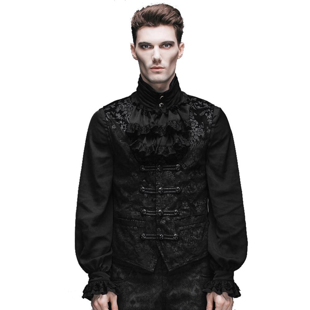 2016 Neue Produkte Vintage Druck Weste Punk Gothic Fashion Casual Männer Palast Schwarze Weste Top Jacke Ausreichende Versorgung