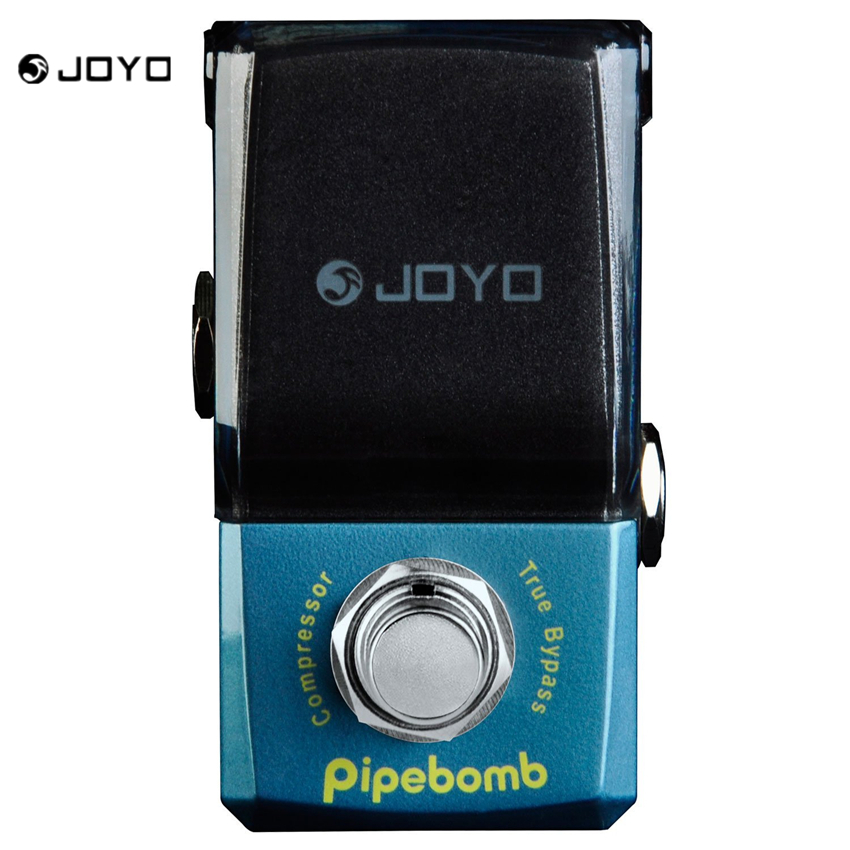 JOYO JF-312 IRONMAN Pipebomb Compressor Guitar Effect Pedal Control Dynamic Output Fatten Sound Ture Bypass joyo jf 10 hot sale electric bass dynamic compressor effect pedal with true bypass ross compressor