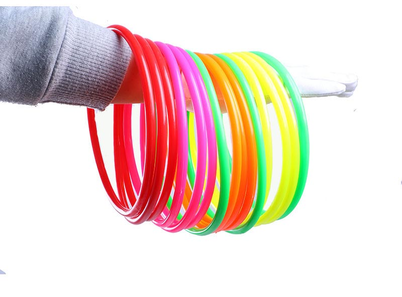 17cm 10pcs Outdoor Colorful Plastic Hoopla Rings Throwing Circles For Kid Fun Sport Toy Grasping/movement Ability Developing