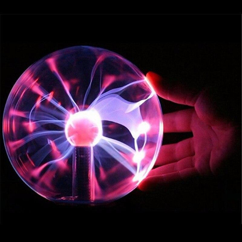 Novelty Magic Plasma Night Light USB Purify Air Glass Ball Lighting Lightning Lamp For Home Bedroom Decoration Christmas Gift