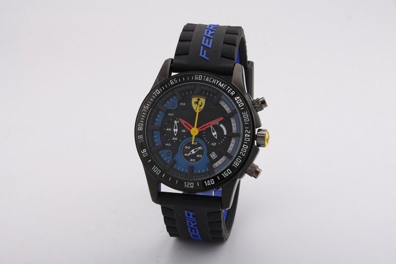 SCUDERIA FERRARI Black Yellow Men Watch Calendar Round Sport Wristwatches Waterproof Luxury Quartz Wristwatches 846649519B