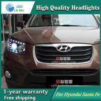 Auto Clud Style LED Head Lamp For Hyundai Santa Fe SantaFe Led Headlights Signal Led Drl