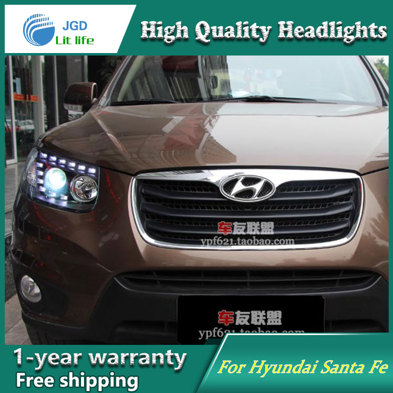 Auto Clud Style LED Head Lamp for Hyundai Santa Fe SantaFe led headlights signal led drl hid Bi-Xenon Lens low beam seintex 85749 hyundai santa fe 2013 black