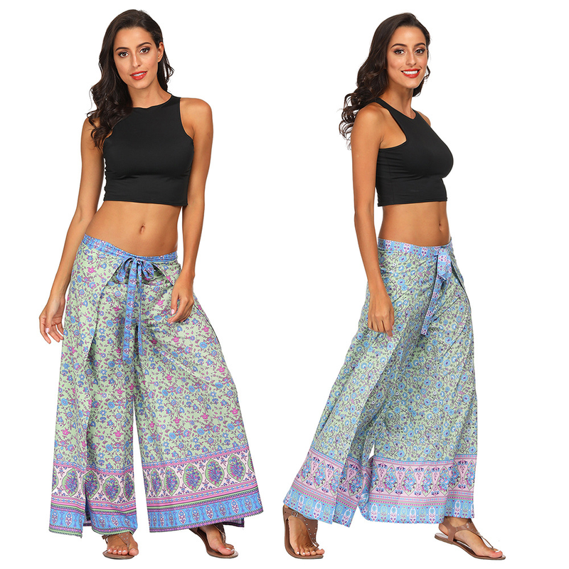 Women Fitness Yoga Sexy Pants Femme Sexy Bohemian Dancing Costumes <font><b>Vietnam</b></font> African Dashiki Trousers Vintage Loose Print Bloomers image