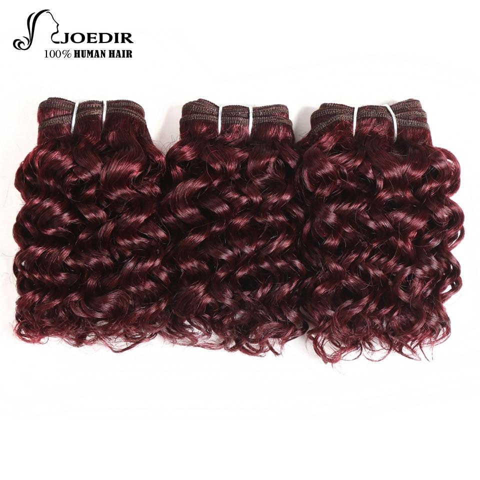 Joedir Brazilian Sassy Curl Human Hair 3 Bundles 99j Color Non Remy